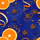 Mulled wine pattern Royalty Free Stock Image