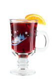 Mulled wine (Punch) with orange slices Stock Photography