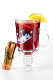 Mulled wine (Punch) with orange slices Stock Photos