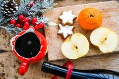 Mulled wine recipe ingredients Stock Photos