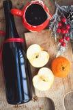 Mulled wine recipe ingredients Royalty Free Stock Image