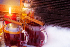 Mulled wine with rum Royalty Free Stock Image