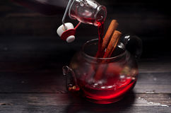 Mulled wine in a rustic style Royalty Free Stock Photos