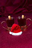 Mulled Wine with Santa Hat royalty free stock image