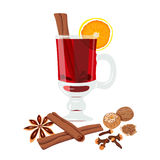 Mulled wine set Stock Images