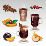 Mulled wine set Stock Image