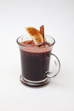 Mulled wine with slice of apple and spices Royalty Free Stock Photography