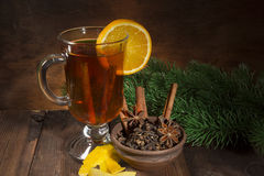 Mulled wine and spice set Royalty Free Stock Photography