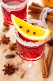 Mulled wine with spices Royalty Free Stock Image