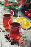 Mulled wine with spices Stock Photography