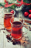 Mulled wine with spices Stock Images
