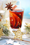Mulled wine with spices for christmas Royalty Free Stock Photos