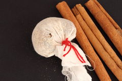 Mulled wine spices and cinnamon sticks Royalty Free Stock Photography