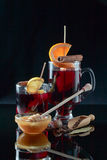 Mulled wine with spices and honey Royalty Free Stock Image