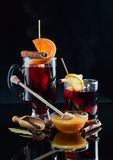 Mulled wine with spices and honey Stock Photography