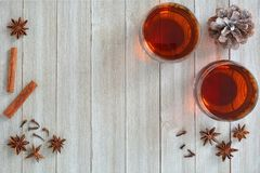 Mulled wine with spices Royalty Free Stock Photography