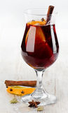 Mulled wine. With spices . Selective focus Royalty Free Stock Photography