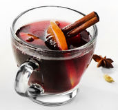 Mulled wine. With spices . Selective focus Royalty Free Stock Images