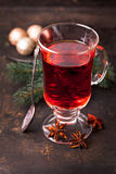 Mulled wine. With spoon and anise Stock Photography