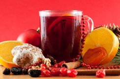 Mulled wine and sweets Royalty Free Stock Photo