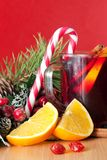 Mulled wine and sweets Stock Photos