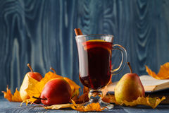 Mulled wine traditional hot spiced alcohol winter season beverag Stock Photography