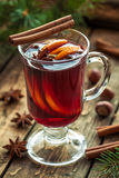 Mulled wine traditional hot spiced alcohol winter Royalty Free Stock Image