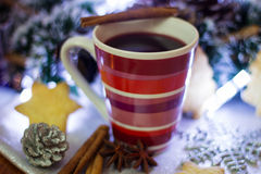 Mulled wine. Royalty Free Stock Photos