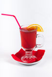 Mulled wine on white background.  Royalty Free Stock Photography
