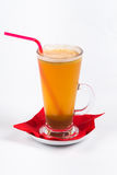 Mulled wine on white background.  Royalty Free Stock Image