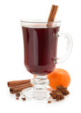 Mulled wine  on white Royalty Free Stock Photography