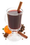 Mulled wine  on white Stock Photos