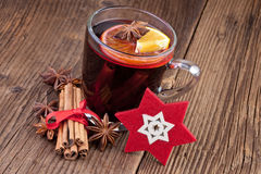 Mulled wine winter hot drink Stock Photo