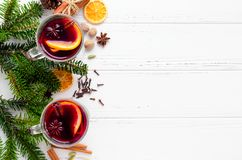 Free Mulled Wine With Orange Royalty Free Stock Photography - 130110967