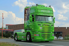 Muller ABBA Scania R520 der Sieger nimmt es aller Lizenzfreies Stockfoto