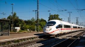 ICE Train passing Mullheim station royalty free stock image