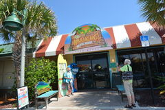 Mulligans Beach House Bar & Grill. People outside a fun waterfront Restaurant in Vero Beach, Florida Stock Images