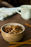 Mulling Spices. An earthy bowl filled with mulling spices Stock Images
