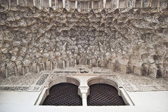 окно mullion потолка богато украшенный Стоковые Фото