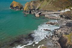 Mullion Cove in Cornwall Royalty Free Stock Image
