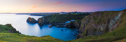 Mullion Cove Cornwall Stock Photo