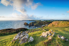 Mullion Cove in Cornwall Royalty Free Stock Photo