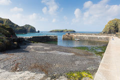 Mullion Cove harbour Cornwall UK the Lizard peninsula Mounts Bay near Helston Royalty Free Stock Photos