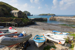 Mullion Cove harbour Cornwall UK the Lizard peninsula Mounts Bay near Helston Stock Photo
