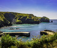 Mullion Cove Harbour Royalty Free Stock Photos