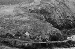 Mullion Cove In Winter. February at Mullion Cove on the Lizard Peninsular in south west Cornwall Stock Photography