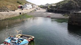Mullion harbour The Lizard Cornwall UK near Helston within Cornish Area outstanding beauty stock footage
