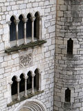 Mullioned window and arch Royalty Free Stock Photography
