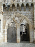 Mullioned window and arch, Romanesque church Stock Photography