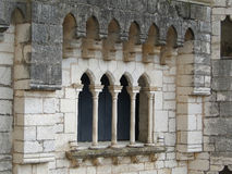 Mullioned window and arch Royalty Free Stock Photo